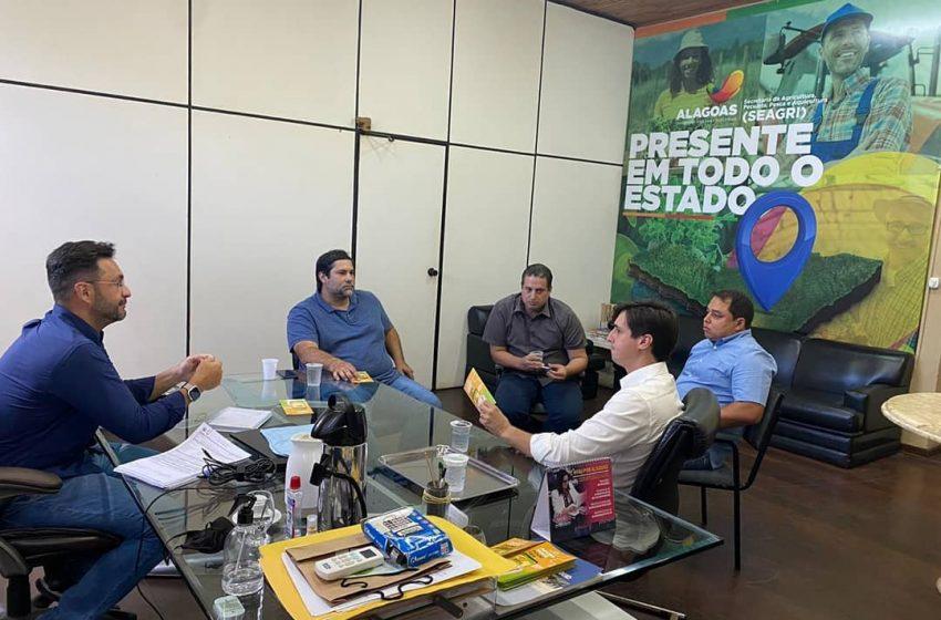Prefeito visita a Secretaria de Agricultura, Pecuária, Pesca e Aquicultura de Alagoas